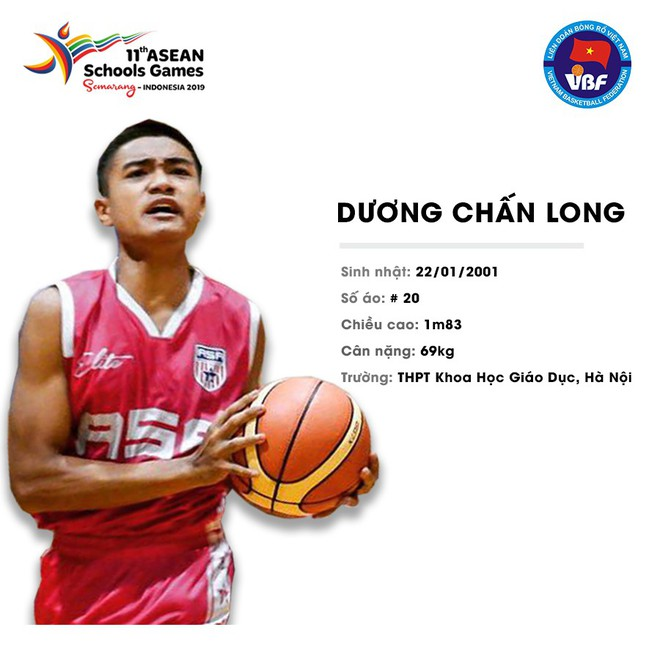 Điểm danh 12 gương mặt xuất sắc nhất của tuyển bóng rổ nam U18 Việt Nam tại ASEAN Schools Games 2019 - ảnh 5