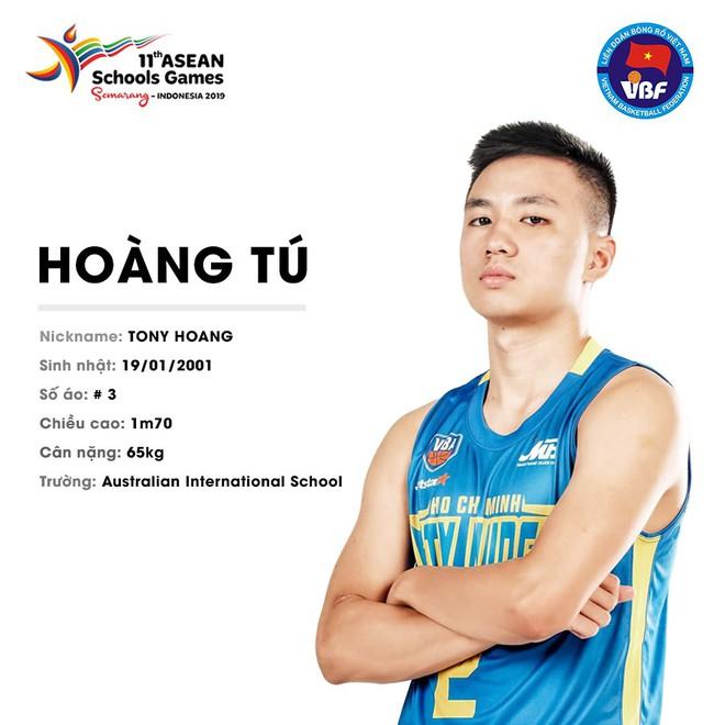 Điểm danh 12 gương mặt xuất sắc nhất của tuyển bóng rổ nam U18 Việt Nam tại ASEAN Schools Games 2019 - ảnh 12