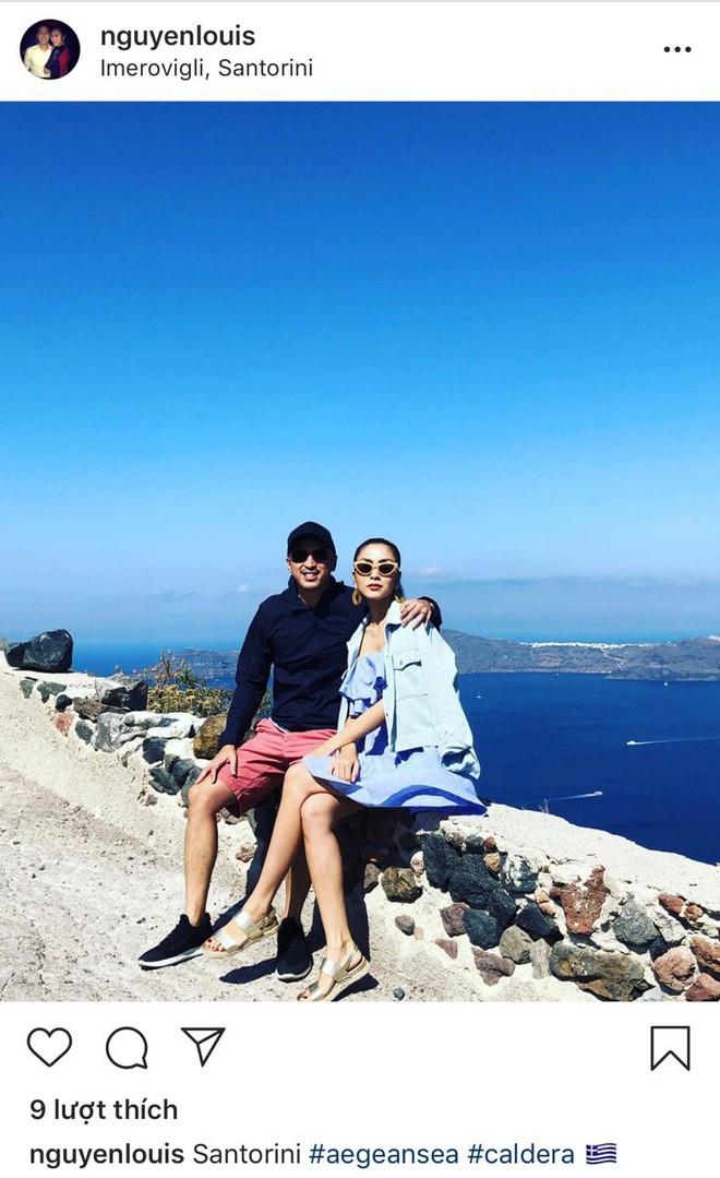 Louis Nguyễn tình tứ khoác vai Hà Tăng trên đảo thiên thần Santorini, 10 năm bên nhau vẫn hạnh phúc như ngày đầu - ảnh 1