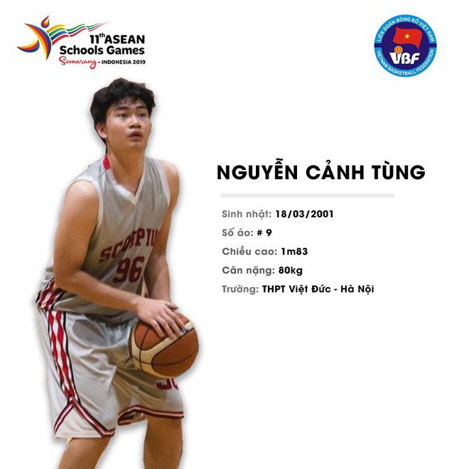 Điểm danh 12 gương mặt xuất sắc nhất của tuyển bóng rổ nam U18 Việt Nam tại ASEAN Schools Games 2019 - ảnh 3