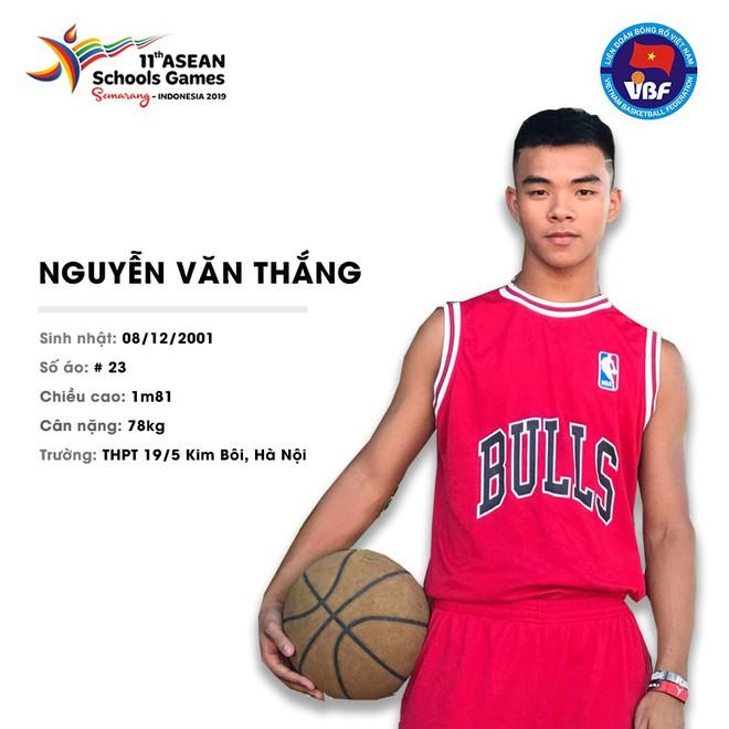 Điểm danh 12 gương mặt xuất sắc nhất của tuyển bóng rổ nam U18 Việt Nam tại ASEAN Schools Games 2019 - ảnh 6