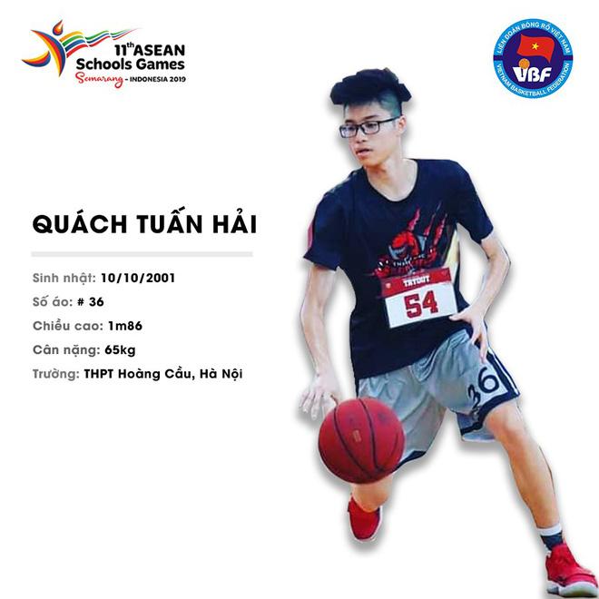 Điểm danh 12 gương mặt xuất sắc nhất của tuyển bóng rổ nam U18 Việt Nam tại ASEAN Schools Games 2019 - ảnh 10