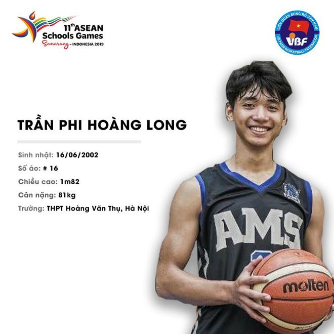 Điểm danh 12 gương mặt xuất sắc nhất của tuyển bóng rổ nam U18 Việt Nam tại ASEAN Schools Games 2019 - ảnh 8