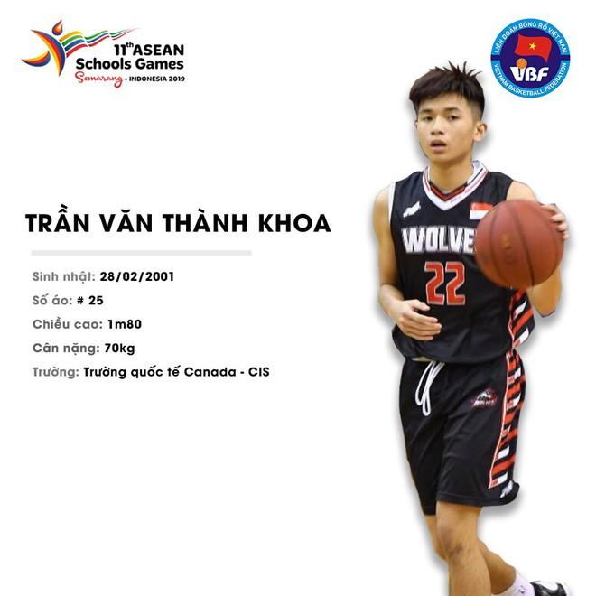 Điểm danh 12 gương mặt xuất sắc nhất của tuyển bóng rổ nam U18 Việt Nam tại ASEAN Schools Games 2019 - ảnh 7