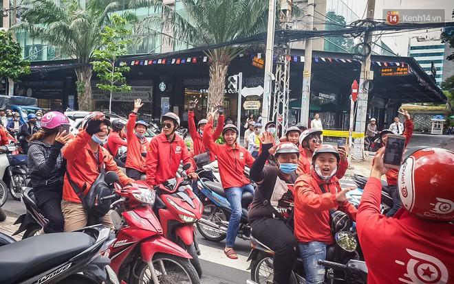 Đại diện Go-Viet lên tiếng khi hàng trăm tài xế ở Sài Gòn tắt app, tập trung đình công phản đối chính sách mới - ảnh 6