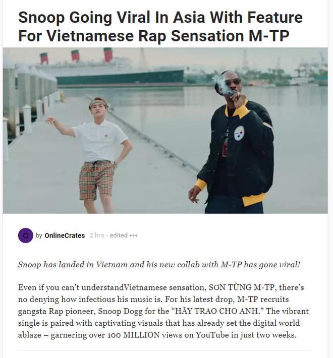 Tạp chí Hip-Hop lớn nhất thế giới thừa nhận chính nhờ Sơn Tùng mà Snoop Dogg có thêm danh tiếng tại Châu Á! - Ảnh 1.
