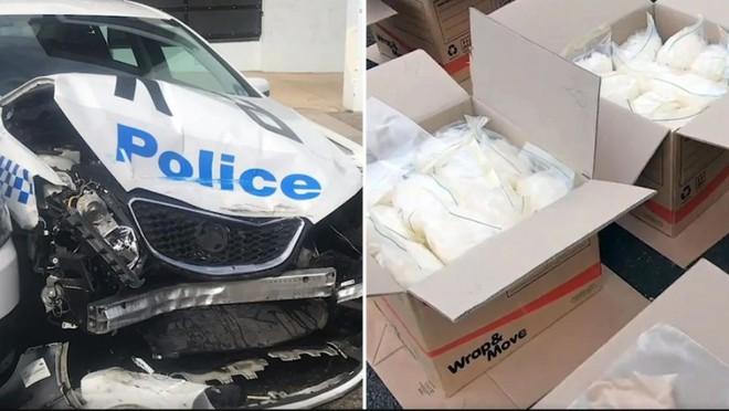 Tài xế 'số nhọ' chở 270kg ma túy đá đâm vào xe cảnh sát - ảnh 1