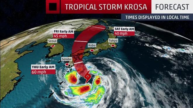 Bão lớn áp sát, Nhật Bản hủy hàng trăm chuyến bay và tàu điện cao tốc - ảnh 1