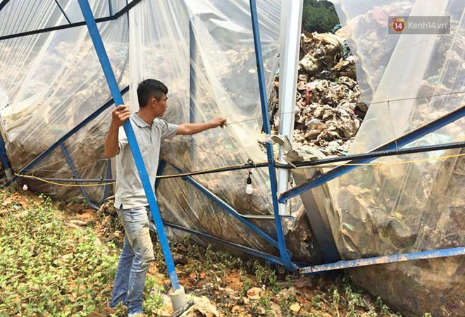 Cận cảnh núi rác ngàn tấn đổ ập xuống ruộng vườn ở Đà Lạt - ảnh 5
