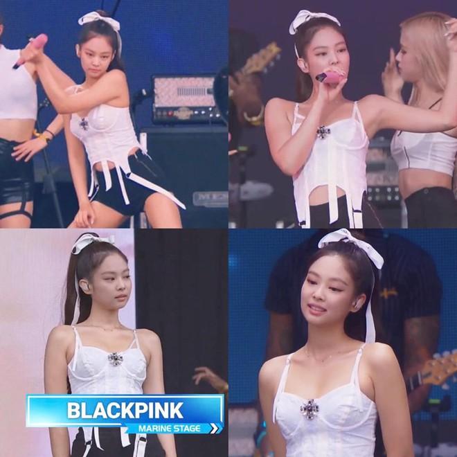 Mải feel quá đà ở góc sân khấu quên cả vị trí đứng, Jennie chạy bạch bạch cho kịp line hát cực dễ thương - ảnh 4