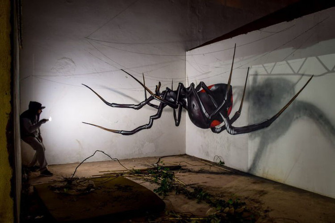 Những bức tường vô hồn hóa tuyệt tác qua đôi tay tài hoa của người nghệ sĩ khiến người xem trầm trồ - ảnh 2