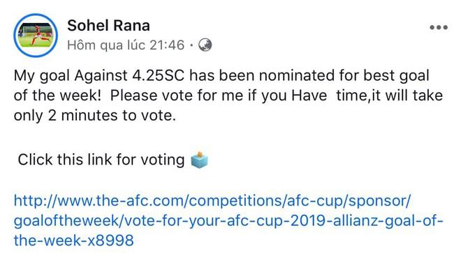 Bình chọn cuộc đua bàn thắng đẹp nhất tuần AFC Cup: Dân mạng Việt Nam đầu hàng hội anh hùng bàn phím Bangladesh - Ảnh 1.