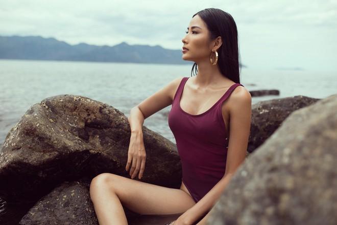 Mãn nhãn với body săn chắc, nóng bỏng của Hoàng Thùy khi diện áo tắm trước thềm Miss Universe 2019 - ảnh 4