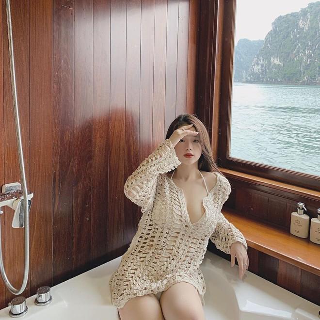 Du lịch tréo ngoe như Linh Ka: Ở du thuyền cực sang nhưng cả chuyến đi đăng ảnh mặc... đúng 1 chiếc áo - ảnh 5