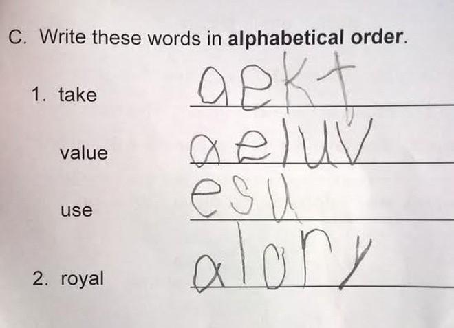 """20 câu trả lời bá đạo trong bài kiểm tra chỉ những đứa trẻ """"thiên tài"""" mới có thể nghĩ ra - ảnh 10"""
