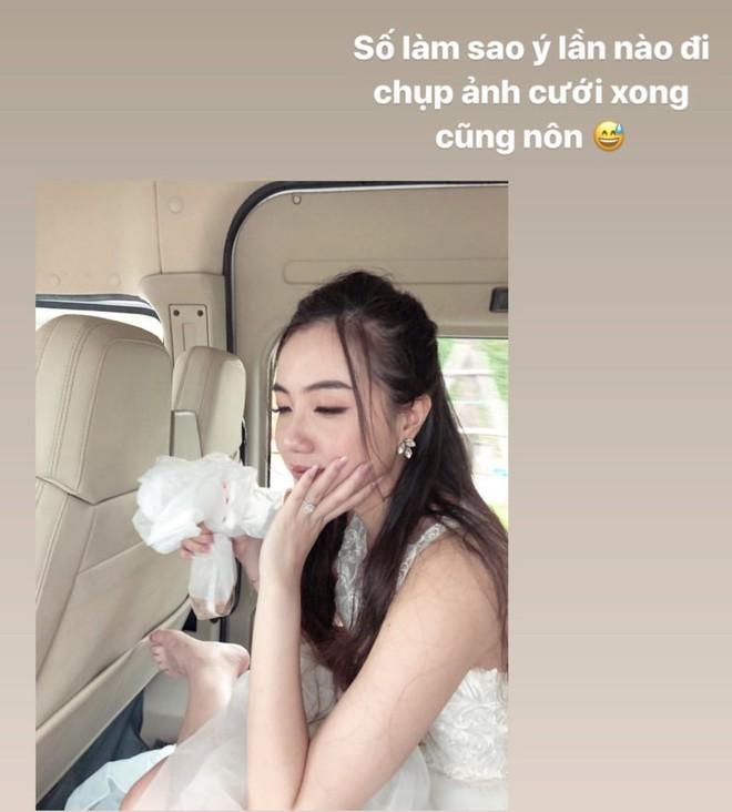 Mie Nguyễn bị nôn sấp mặt ở hậu trường chụp ảnh cưới, vẫn khiến dân tình xỉu lên xỉu xuống khi thấy thành quả cuối ngày - ảnh 1