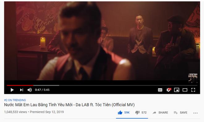 MV Nước Mắt Em Lau Bằng Tình Yêu Mới của Da LAB đạt Top 2 trending: Tóc Tiên chiếm spotlight, ngập trong cơn mưa lời khen - ảnh 1