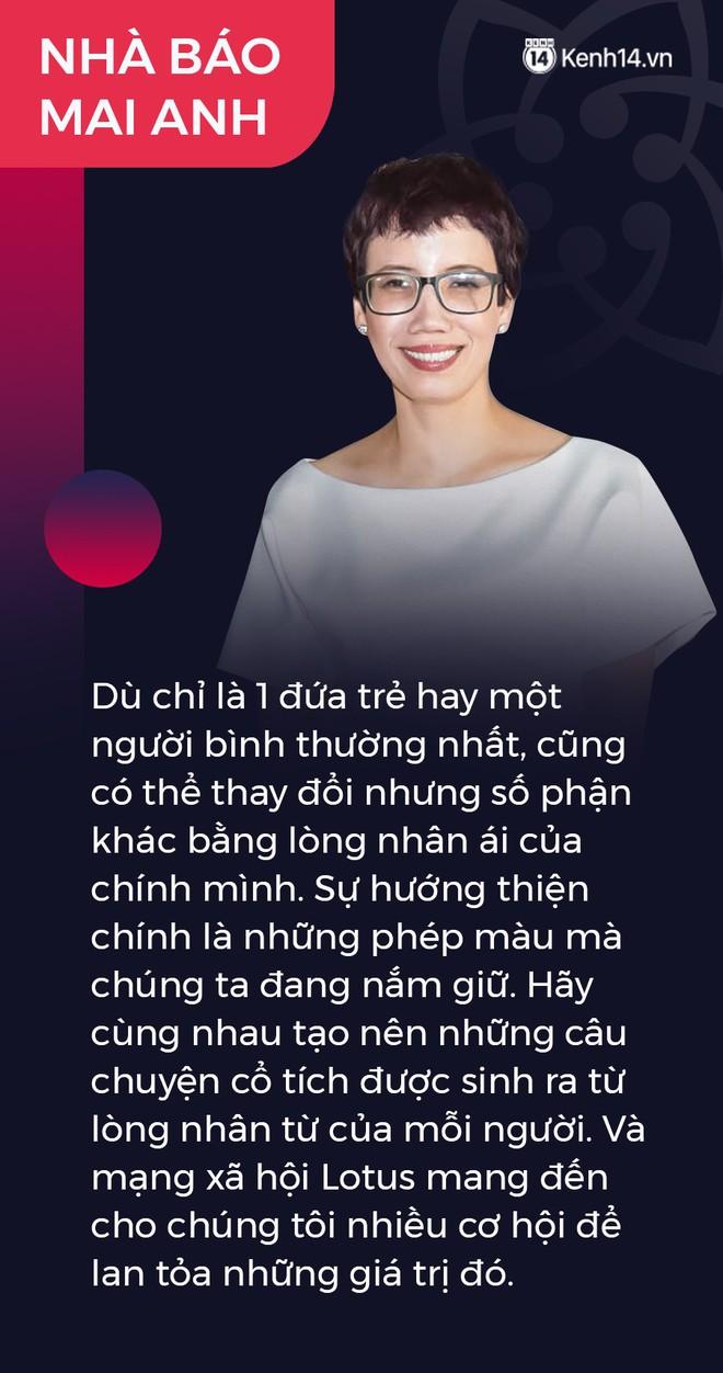 Ninh Dương Lan Ngọc, Quang Hải và nhà báo Mai Anh gây xúc động: Lotus sẽ mang đến cơ hội lan tỏa niềm tự hào giá trị Việt Nam - ảnh 5