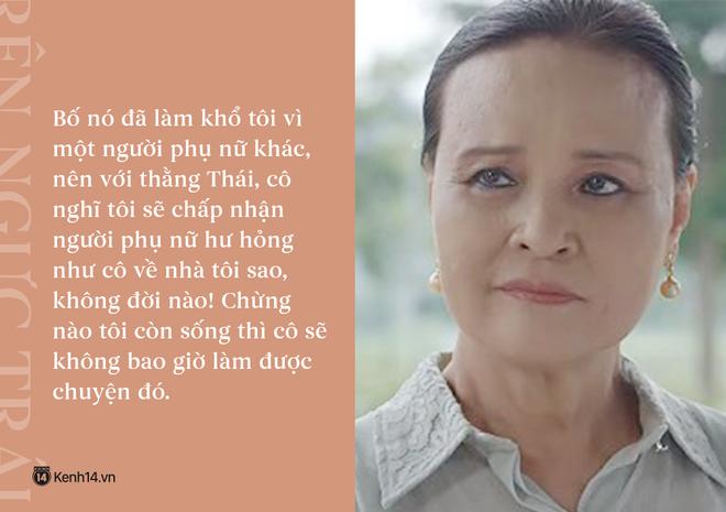Học thuộc lòng 9 câu thoại để đời của mẹ chồng quốc dân Hoa Hồng Trên Ngực Trái: Mẹ cấm con xúc phạm vợ mình! - Ảnh 8.