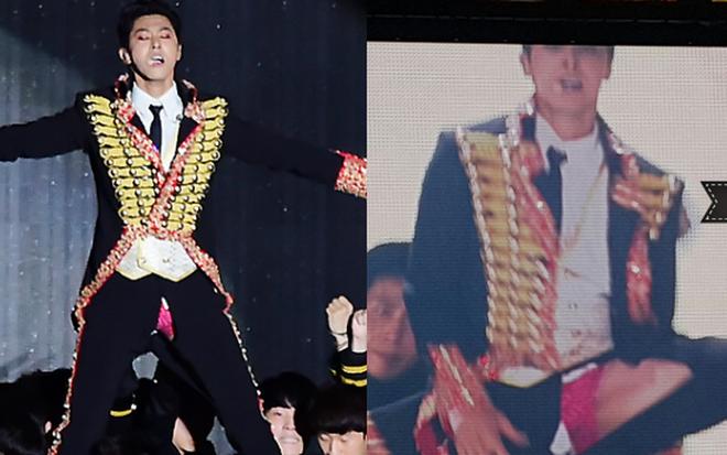 """Idol Kpop khốn khổ do sự cố trang phục: Áo quần phản chủ đã đành, có người còn suýt """"lộ hàng"""" vì thành viên cùng nhóm - Ảnh 1."""