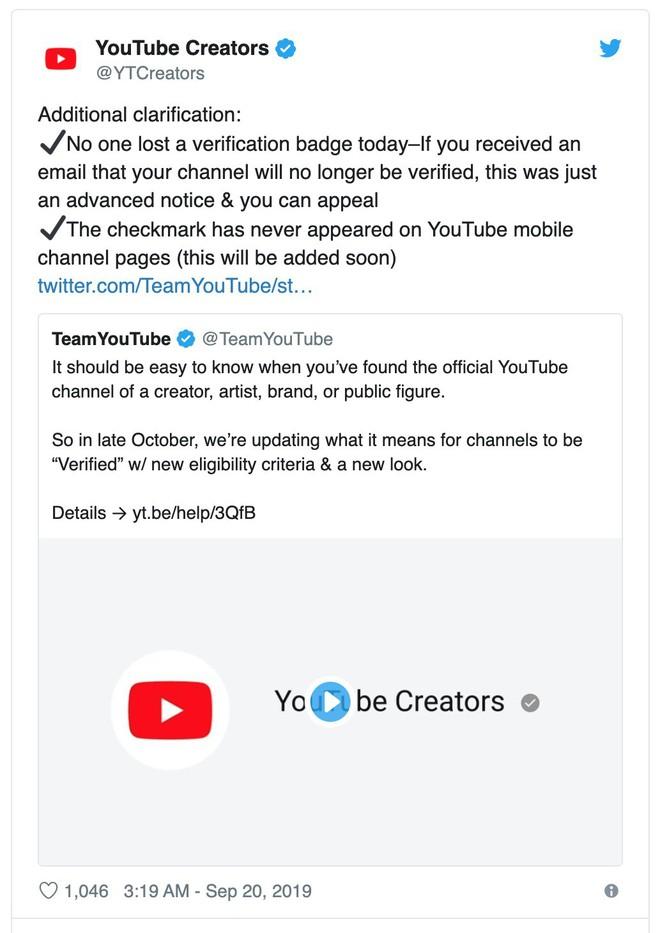 YouTube thay đổi cách xác minh kênh, nhiều người có nguy cơ mất trắng huy hiệu - ảnh 2