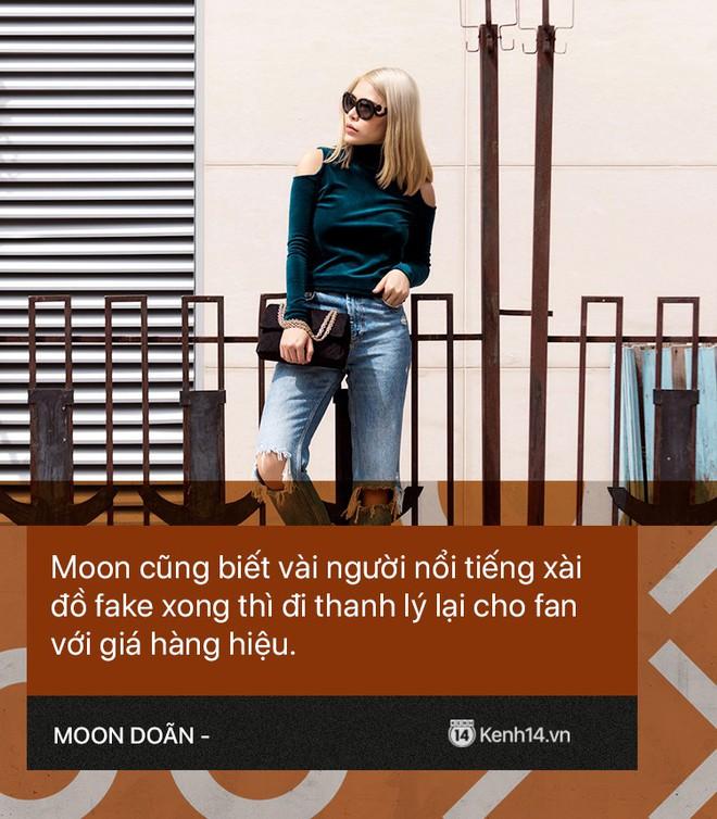 Moon Doãn - Nữ nhân chuyên bóc phốt hàng hiệu tâm sự: Mình bị dọa nhiều lắm, có cô còn mò đến nhà vào lúc 1 giờ sáng - ảnh 4