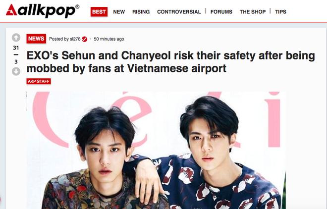 Báo chí và fan quốc tế sốc trước cảnh Sehun - Chanyeol (EXO) méo mó, bị bóp nghẹt vì biển fan đông nghẹt thở ở Nội Bài - Ảnh 11.