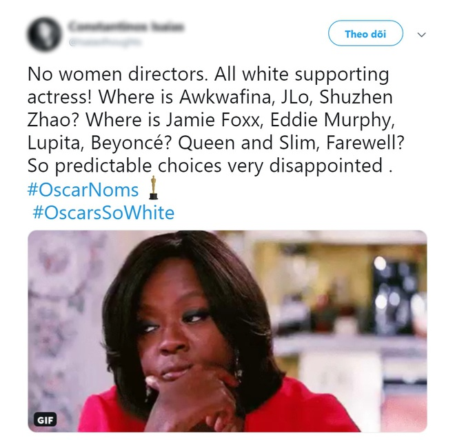 """Khán giả lại ồ ạt lên tiếng vì đề cử Oscar 2020 quá """"trắng""""? - ảnh 10"""