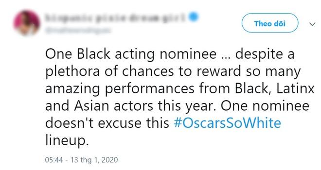 """Khán giả lại ồ ạt lên tiếng vì đề cử Oscar 2020 quá """"trắng""""? - ảnh 8"""