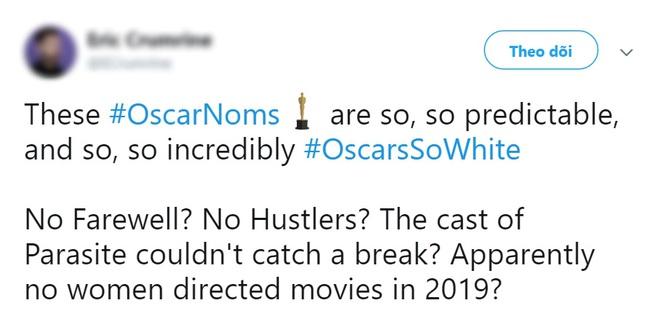 """Khán giả lại ồ ạt lên tiếng vì đề cử Oscar 2020 quá """"trắng""""? - ảnh 7"""