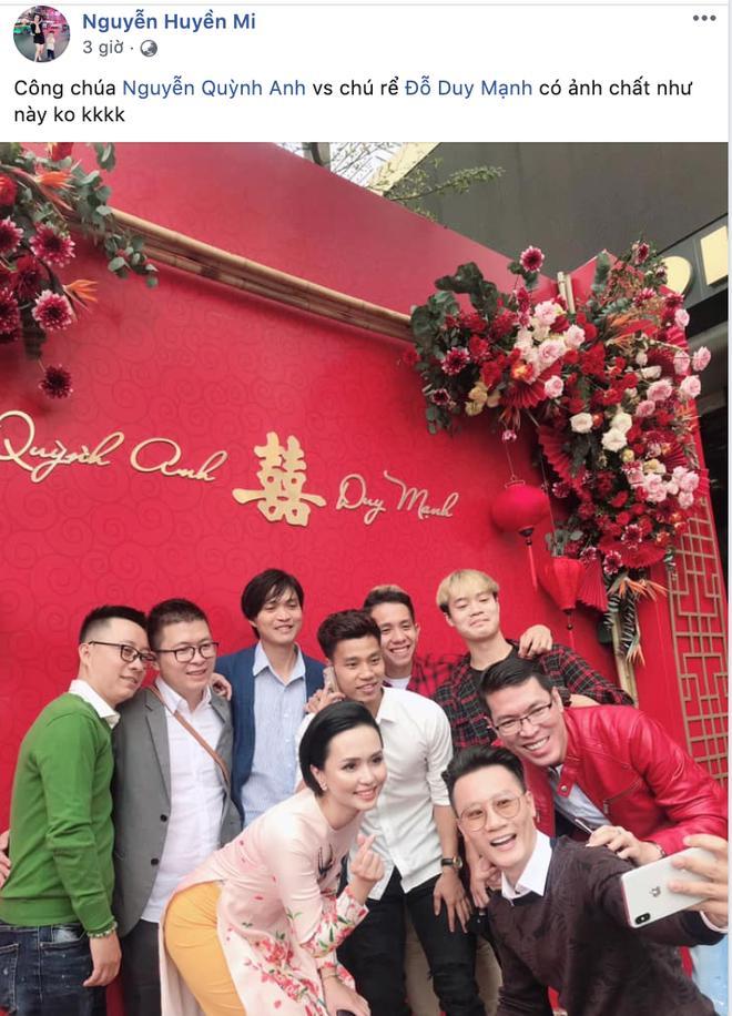Quỳnh Anh khoe ảnh tươi tỉnh sau lễ ăn hỏi với Duy Mạnh, hạnh phúc với sự ghé thăm của vị khách đặc biệt - ảnh 2