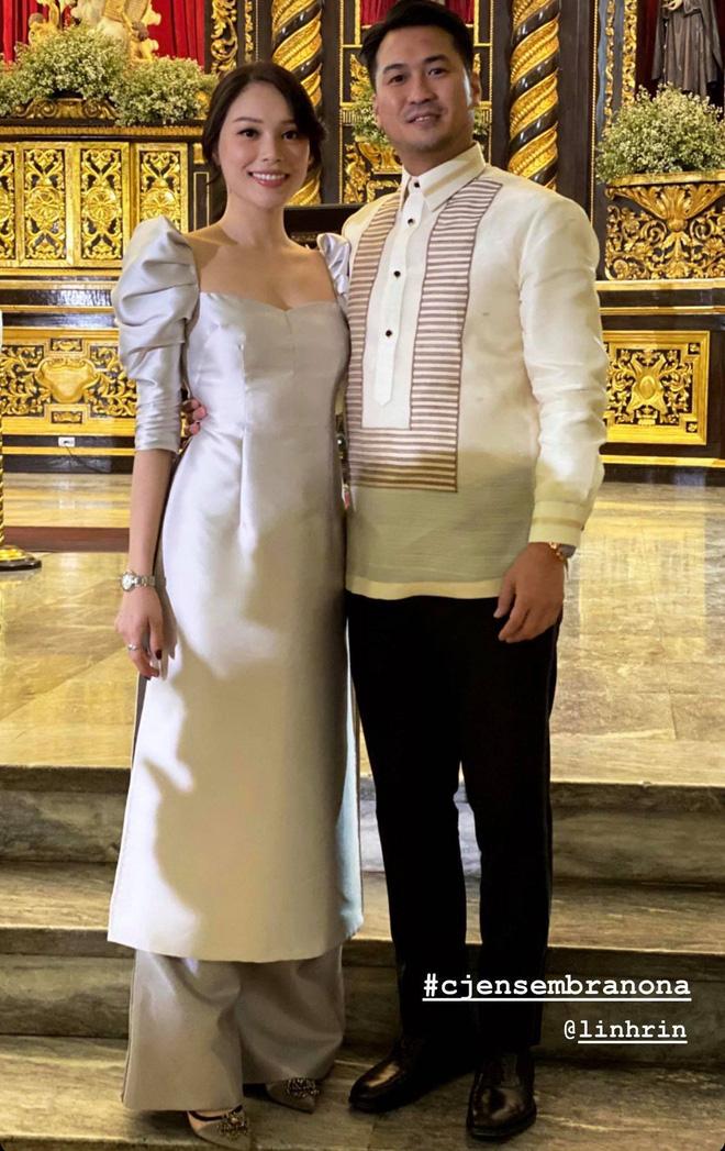 Hà Tăng khoe sắc bên Louis Nguyễn trong tiệc cưới gia đình triệu đô, thân hình gầy gò của ngọc nữ gây chú ý lớn - ảnh 3