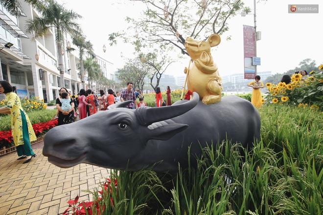 Phố nhà giàu Phú Mỹ Hưng đón Tết Canh Tý với đường hoa xuân đầy lúa và bắp ngô, tái hiện khung cảnh làng quê bình dị - ảnh 4