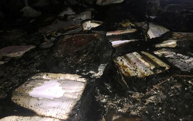 Hiện trường vụ cháy tòa nhà dầu khí Thanh Hóa khiến 2 người chết, 13 người bị thương - ảnh 6