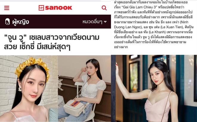 Jun Vũ bất ngờ lên tờ báo nổi tiếng Thái Lan: Được gọi là nữ minh tinh Việt Nam, nhận nhiều lời khen có cánh - ảnh 1
