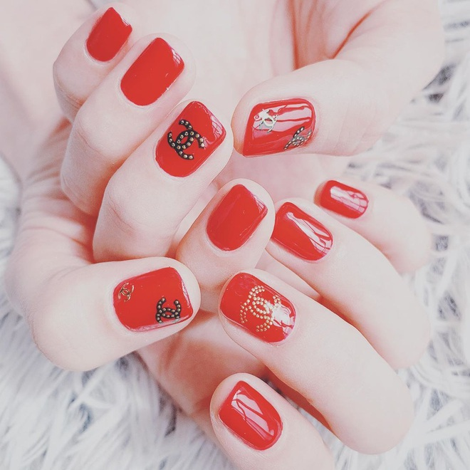 Để Tết này thêm chanh sả, bạn hãy bắt chước ngay những mẫu nail sang xịn từ loạt sao châu Á sành điệu - ảnh 2