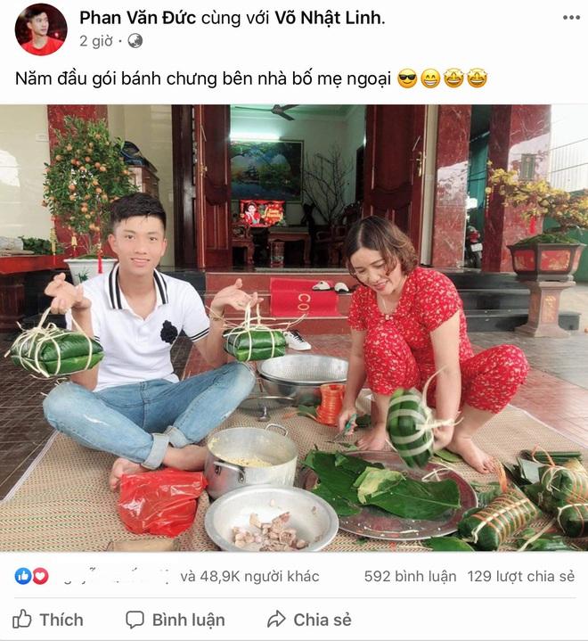 Phan Văn Đức về nhà vợ phụ gói bánh chưng, Hà Đức Chinh giữ dáng đón Tết 2020 - ảnh 1
