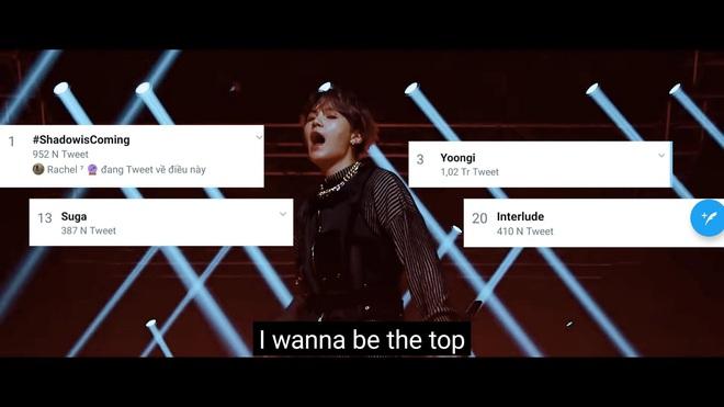 BTS mở màn comeback cực đỉnh: Suga bất ngờ cất giọng hát, leo top 1 trending toàn cầu, trailer 1 triệu like nhanh nhất thế giới san bằng BLACKPINK - Ảnh 4.