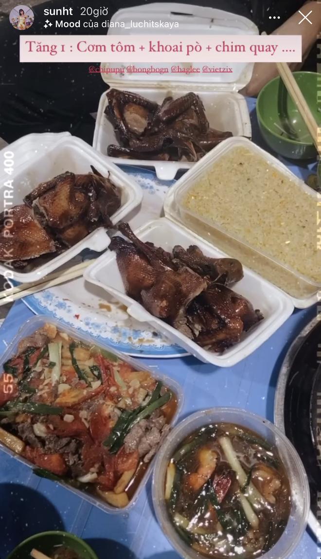 Xem hội chị em Chi Pu oanh tạc Hà Nội mà thèm: một tối ăn tận 4 cữ, hết nướng lại đến lẩu - Ảnh 2.