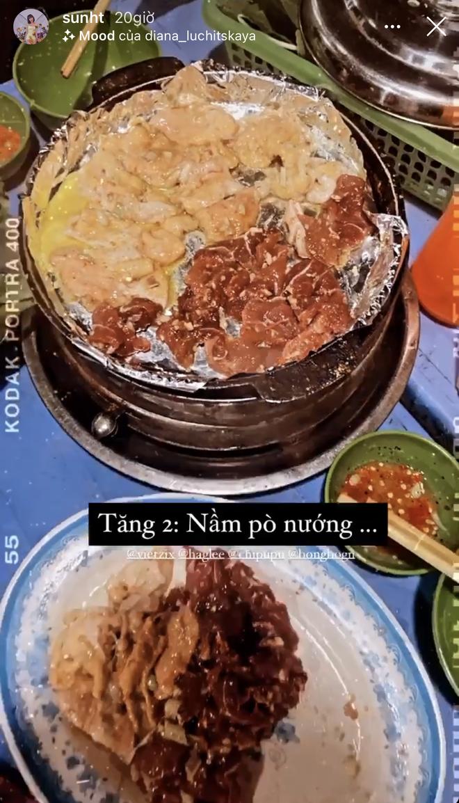 Xem hội chị em Chi Pu oanh tạc Hà Nội mà thèm: một tối ăn tận 4 cữ, hết nướng lại đến lẩu - Ảnh 4.