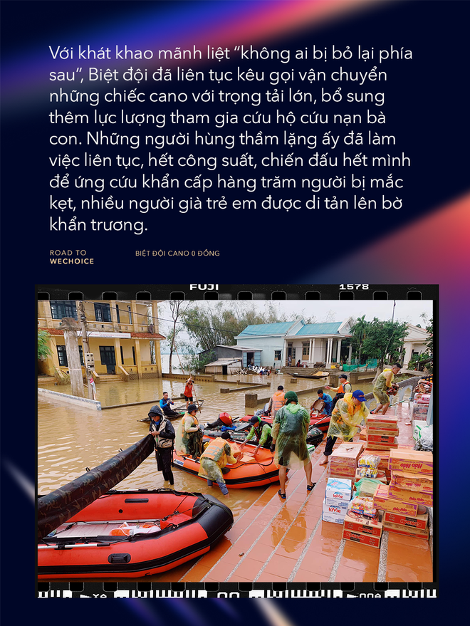 """Những người hùng bản lĩnh của """"Biệt đội cano 0 đồng: Làm việc hết công suất để ứng cứu hàng trăm người mắc kẹt tại """"rốn lũ"""" miền Trung - Ảnh 5."""