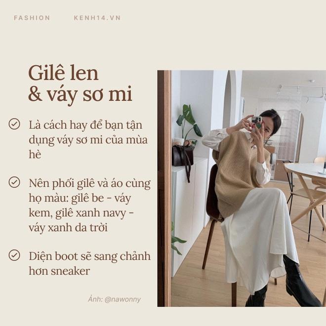 7 công thức bạn nên ghim để diện gilê len chuẩn chỉnh như gái Hàn - Ảnh 6.