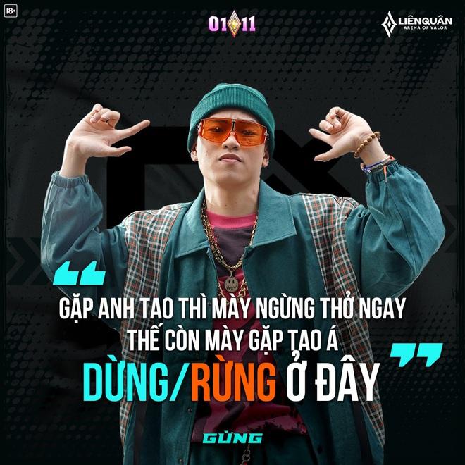 Dàn sao Rap Việt tung ra siêu phẩm Lane Nào Bá Nhất mừng sinh nhật Liên Quân Mobile với lyric cực cà khịa - Ảnh 3.