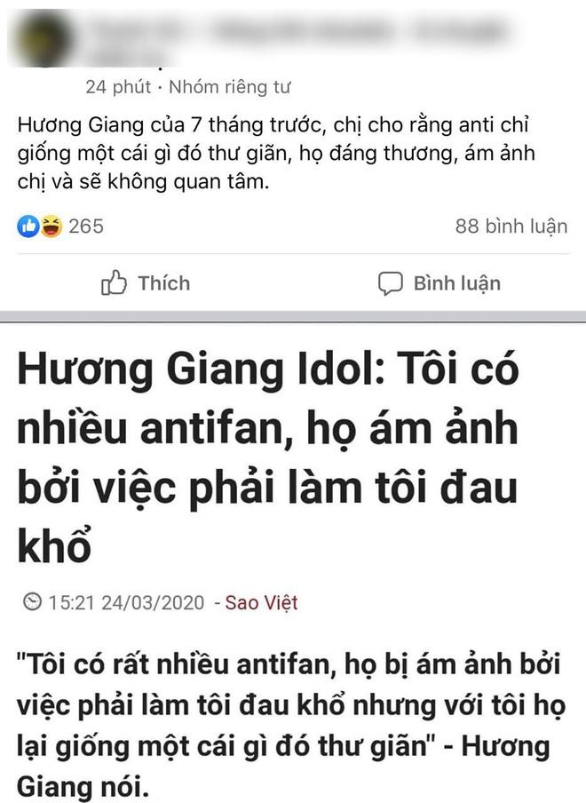 Tranh cãi phát ngôn của Hương Giang 7 tháng trước và hiện tại: Antifan giống một cái gì đó thư giãn, họ mới là đáng thương nhất - Ảnh 3.