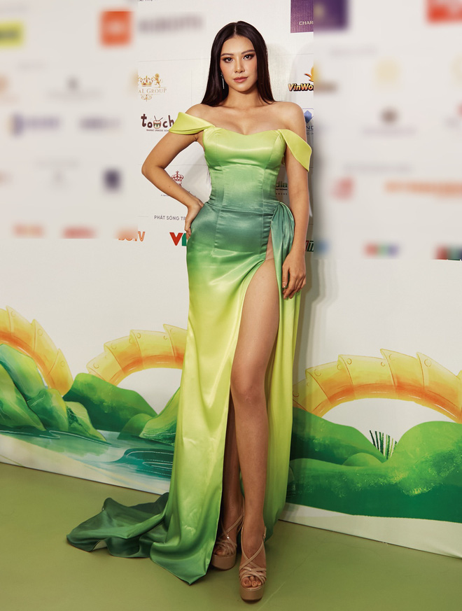"""Quân đoàn"""" Hoa hậu Á hậu đọ dáng nóng hừng hực tại sự kiện: H'Hen Niê quá ấn tượng, Tường Linh - Võ Hoàng Yến sexy không kém - Ảnh 7."""