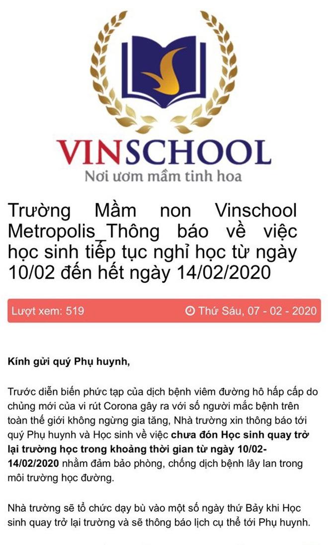 Hà Nội: Một số trường tiếp tục cho học sinh nghỉ học sau 17/2 để phòng dịch Covid-19 - ảnh 4