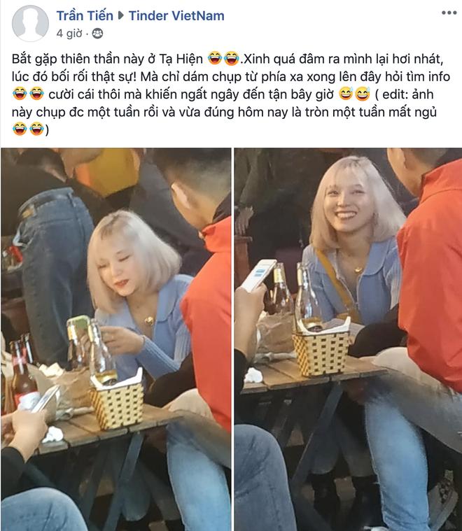 Chụp trộm gái xinh trên Tạ Hiện, thanh niên về nhà mất ngủ 1 tuần quyết định lên group Tinder tìm kiếm: Kết quả thật không uổng công crush! - ảnh 1