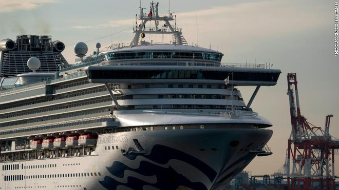 Thêm 70 trường hợp nhiễm virus corona, số người mắc bệnh trên du thuyền cách ly Diamond Princess chiếm 87% toàn Nhật Bản - Ảnh 1.