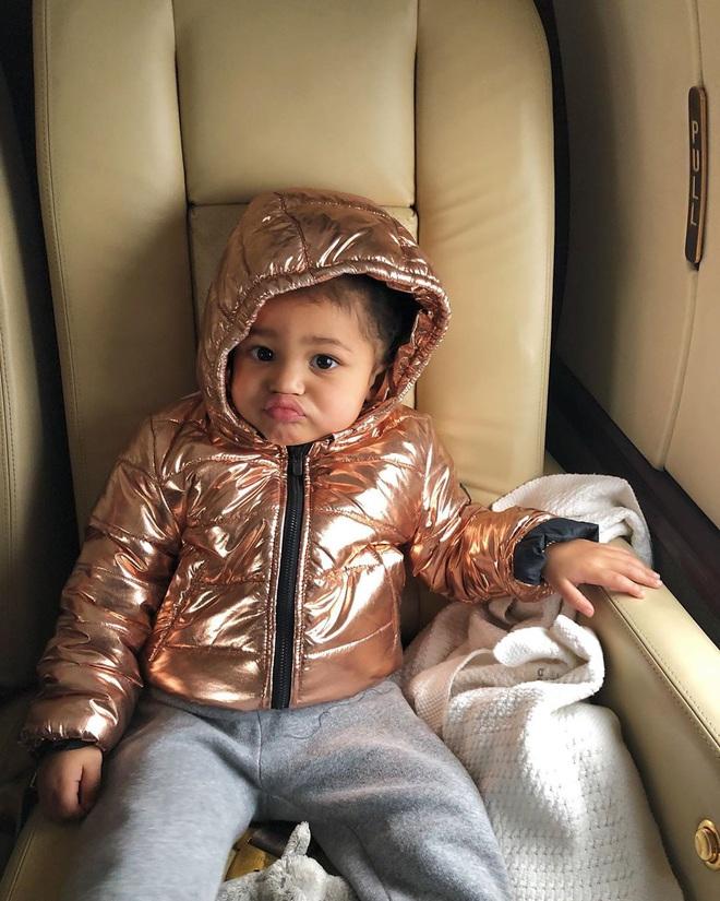 Chưa chắc bạn đã cool bằng bé Stormi nhà Kylie: Mới 2 tuổi đã diện khuyên tai to bản cực gắt, khoe thần thái đến người lớn cũng phải e dè - ảnh 8