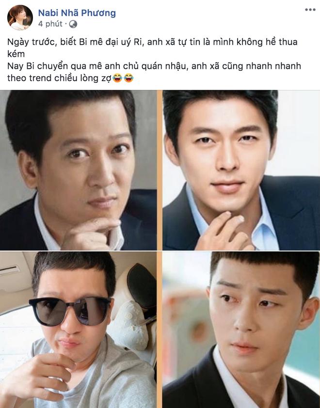 """Nịnh vợ như Trường Giang: Sẵn sàng """"xuống tóc"""" đúng kiểu ngố tàu của Park Seo Joon chỉ vì Nhã Phương mê """"Tầng lớp Itaewon"""" - ảnh 1"""